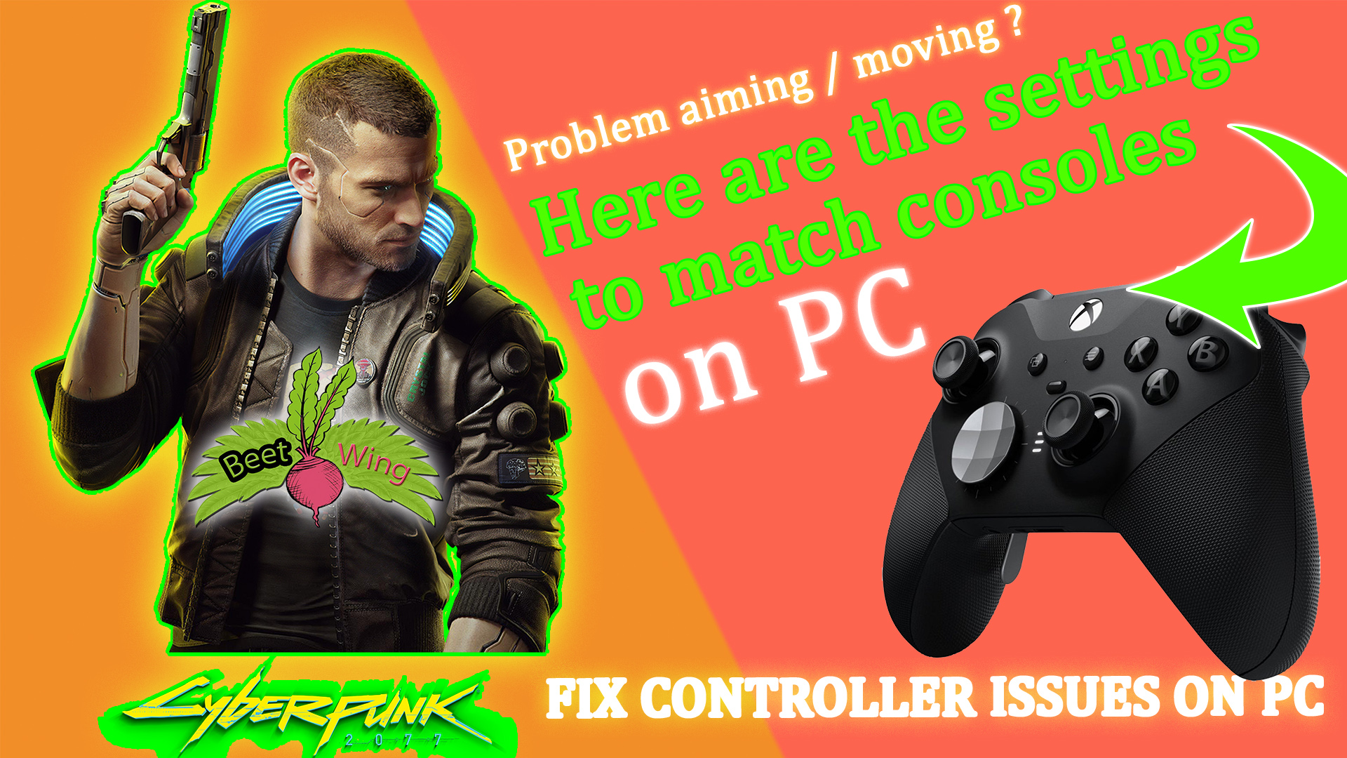 Cyberpunk 2077 Fix Controller aiming on PC