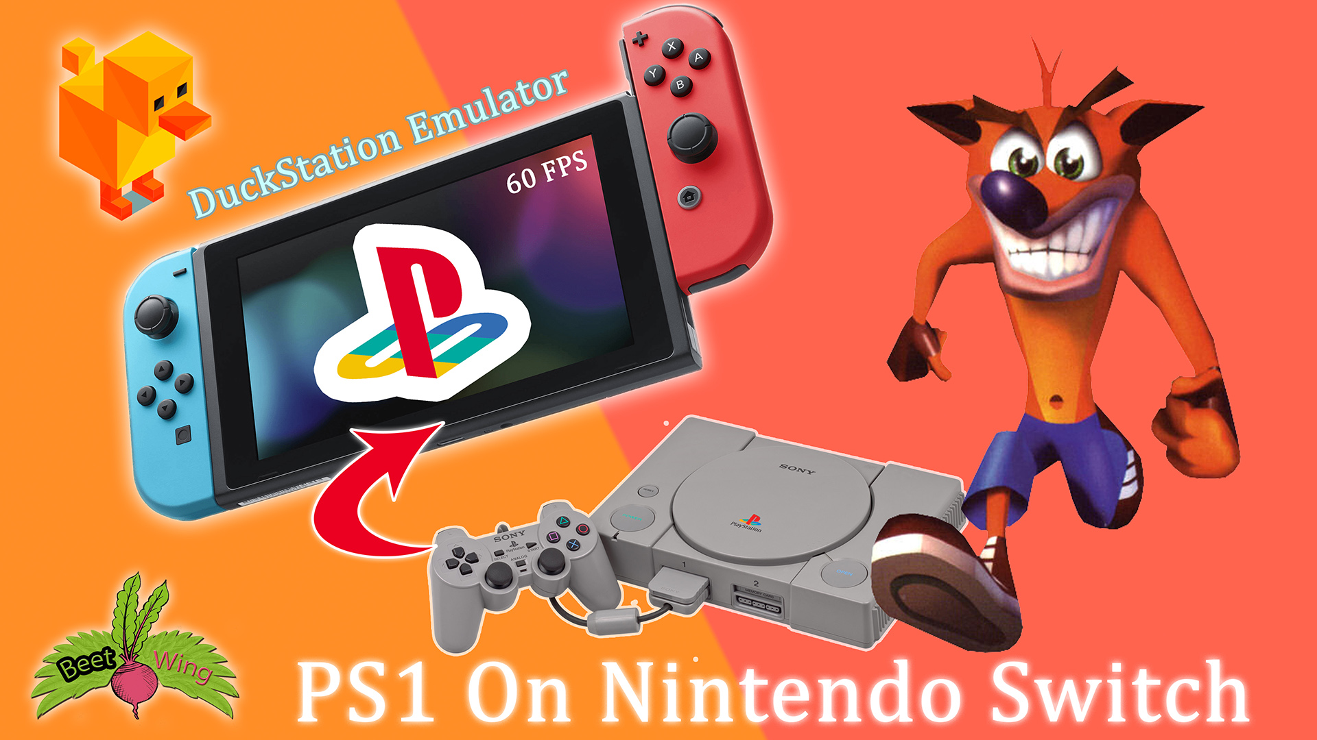 PS1 On Nintendo Switch DuckStation Emulator